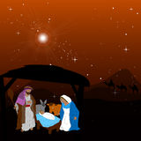 Colored manger illustration Royalty Free Stock Photo