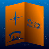 Colored manger illustration Royalty Free Stock Image