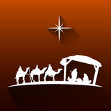 Colored manger illustration Royalty Free Stock Photography