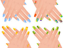 Colored manicure Royalty Free Stock Photo