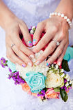 Colored manicure Stock Images