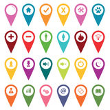 Colored Map Markers Icon Set Royalty Free Stock Photography