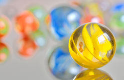 Colored marbles Stock Image