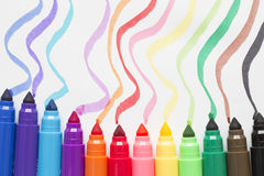 Colored marker pen Stock Photos