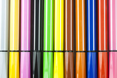 Colored marker pens Stock Photo