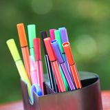 Colored marker pens Royalty Free Stock Photos