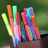 Colored marker pens Stock Photography