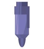Colored marker purple supplie school Stock Image