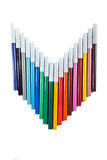 Colored markers Stock Photography