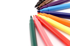 Colored Markers closeup Royalty Free Stock Photography