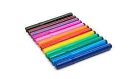 Colored markers isolated Stock Photos