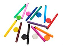 Colored markers isolated Royalty Free Stock Images