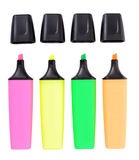 The colored markers. Isolated on a white background Royalty Free Stock Image
