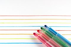 Colored markers, Royalty Free Stock Photos