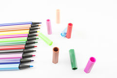 Colored markers. Stock Image