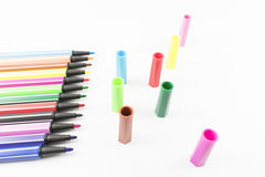 Colored markers. Stock Photography