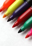 Colored Markers. A series of colored markers on a white background Stock Photography