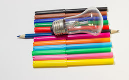 Colored markers Royalty Free Stock Image