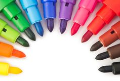 Colored markers Stock Image