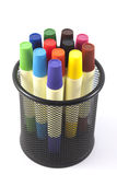 Colored markers on the white background Royalty Free Stock Photography