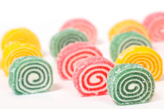 Colored marmalade of a snail shape Stock Photography