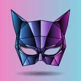 Colored mask superhero cat woman Stock Image