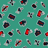 Colored mass media pattern royalty free illustration