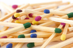 Colored match sticks Royalty Free Stock Photo