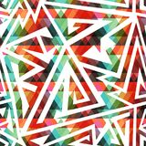 Colored maze seamless pattern Royalty Free Stock Image