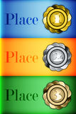 Colored medals Infographics Prizes Stock Image