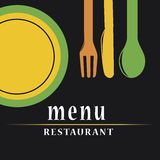 Colored menu design Royalty Free Stock Photo