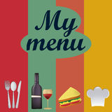Colored menu Stock Photos