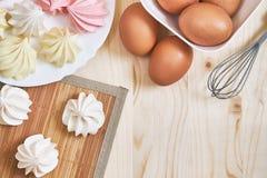 Colored meringue cookies Royalty Free Stock Image