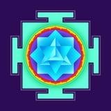 Colored merkaba yantra illustration Royalty Free Stock Images