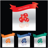 Colored Merry Christmas background. With balls Stock Photography