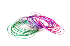 Colored metal bangles jewellery Stock Image