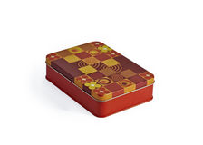 Colored metal box Royalty Free Stock Image