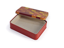 Colored metal box with cap Stock Photo