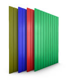 Colored metal profile sheets Royalty Free Stock Photo