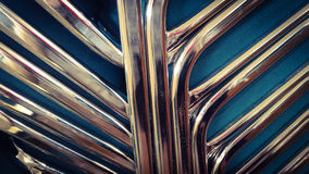 Colored metallic stack of chairs Royalty Free Stock Photos