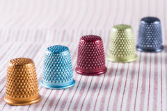 Colored Metallic Thimbles Stock Images