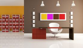 Colored modern office Stock Photography