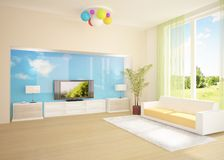 Colored modern room Stock Photo