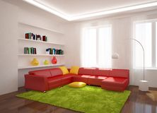 Colored modern room Stock Photos