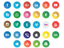 Colored modern social media icons. Colored modern social media signs royalty free illustration