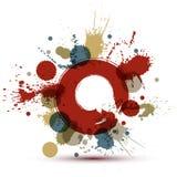 Colored modern vector acrylic wallpaper, eps8 blob seamless patt Royalty Free Stock Photos