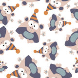 Colored monkey in retro style, seamless pattern,  Royalty Free Stock Photo