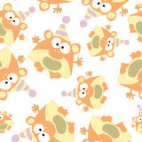 Colored monkey in retro style, seamless pattern,  Stock Photos