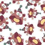 Colored monkey in retro style, seamless pattern,  Royalty Free Stock Photography