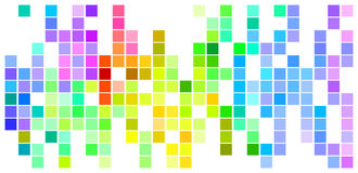 Colored Mosaic. Abstract Mosaic Rainbow Colored Rectangles Alligned On White Background Royalty Free Stock Photos